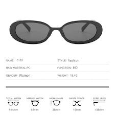 Fashion Oval <b>Retro Sunglasses Small</b> Box INS Wind <b>Personality</b> Ms ...