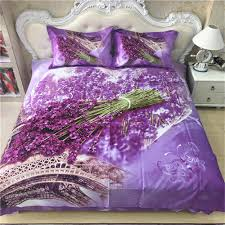bedroom sets lots: comforter bedroom sets french lavender the eiffel tower bedding font b set b font queen king size floral print