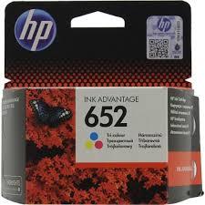 <b>Картридж HP F6V24AE</b> (№652) (трехцветный) Голубой (Cyan) + ...