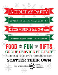 teen and young adult holiday party summer s paying it forward lce holiday party flyer 2014 page 001