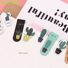 <b>Cute Cactus Magnetic Bookmarks</b> Paper Clip Stickers School Office ...