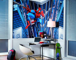 astonishing kids bedroom theme boys bedroom ideas for small rooms with amazing spiderman wallpaper and blue astonishing kids bedroom