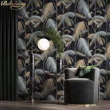 beibehang wall paper Retro <b>palm tree</b> leaves papel de parede ...