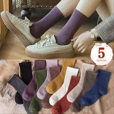 Buy Online <b>5 Pairs</b>/set Women Socks Soft <b>Fashion</b> Autumn Winter ...