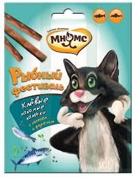 <b>Мнямс</b> Рыбный фестиваль <b>Лакомые палочки для</b> кошек (лосось ...