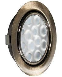 <b>REPLIS</b>-<b>1 LED светильник врезной</b> круглый, античная бронза ...