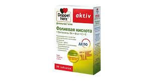 <b>Доппельгерц</b>® <b>актив Фолиевая кислота</b> + Витамины В6+В12+С+Е
