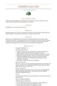 computer operator resume samples   visualcv resume samples databasecomputer operator b resume samples