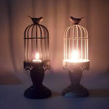 <b>PINNY</b> Romantic Bird Cage <b>Iron</b> Candles Stand <b>European</b> Classical ...