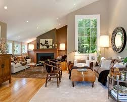 floor sitting furniture. transitional orange floor living room photo in san francisco with beige walls sitting furniture