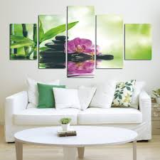 day orchid decor: pcs print poster canvas wall art pink orchids decoration art oil painting modular pictures on the