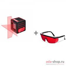 Нивелир <b>лазерный ADA</b> CUBE BASIC EDITION + <b>очки лазерные</b> ...