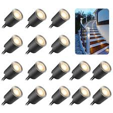 16Pcs <b>8LED Solar</b> Power Buried Light Under Ground Path Decking ...