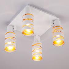 <b>Белый</b> потолочный светильник <b>спот</b> с поворотными плафонами ...