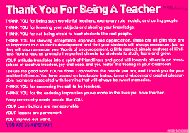thank you for being a teacher poster thank you for being a teacher