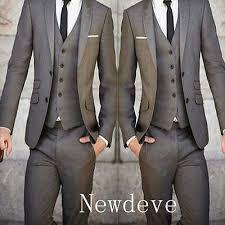 <b>Custom Made Men</b> Slim Fit <b>Wedding</b> Suits Groom Tuxedos ...