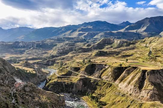 O país da América Latina é rico em paisagens naturais.