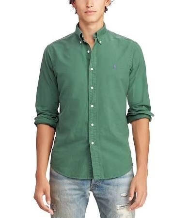 Camisa Green De Sage Polo Tamaño Ralph Algodón Lauren Para Hombre Mediano Oxford qwzEzxpct