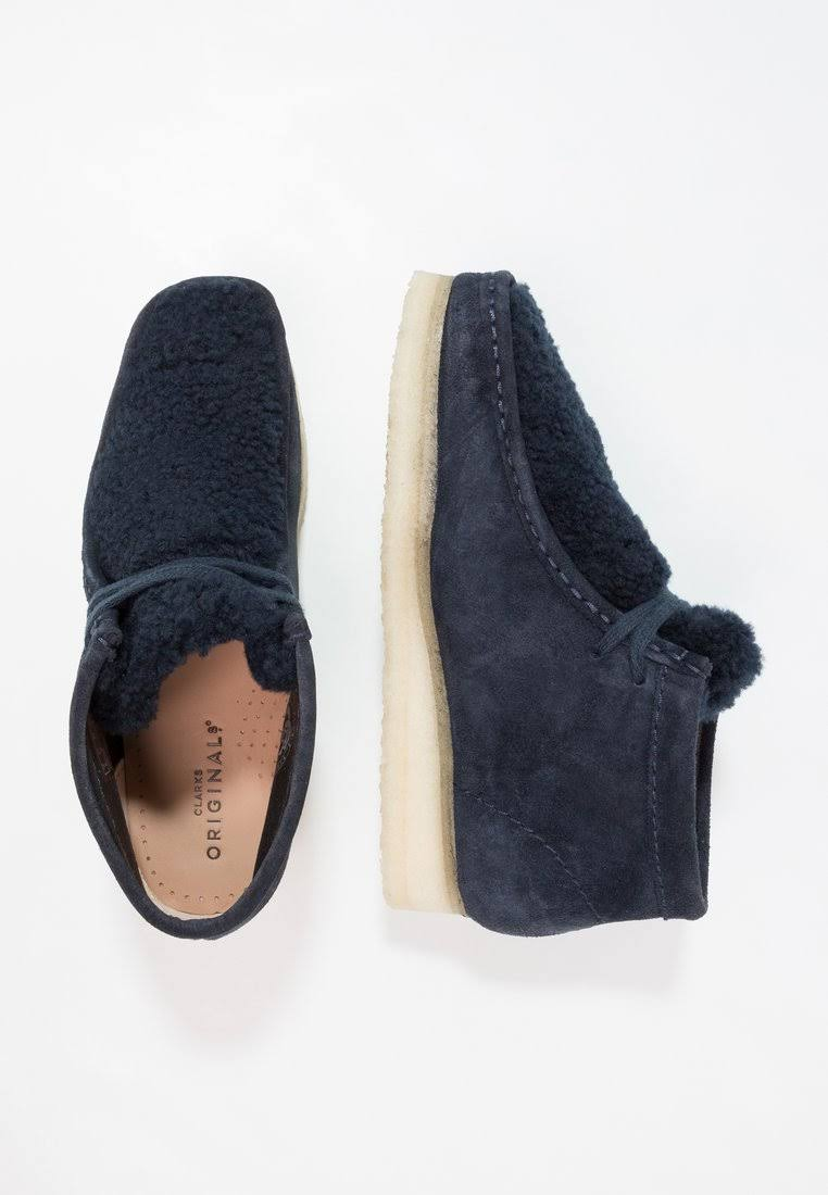 In Clark 7camoscio Scuro Navy Wallabee Camoscio Stivali Blu Uk m0vN8wnO