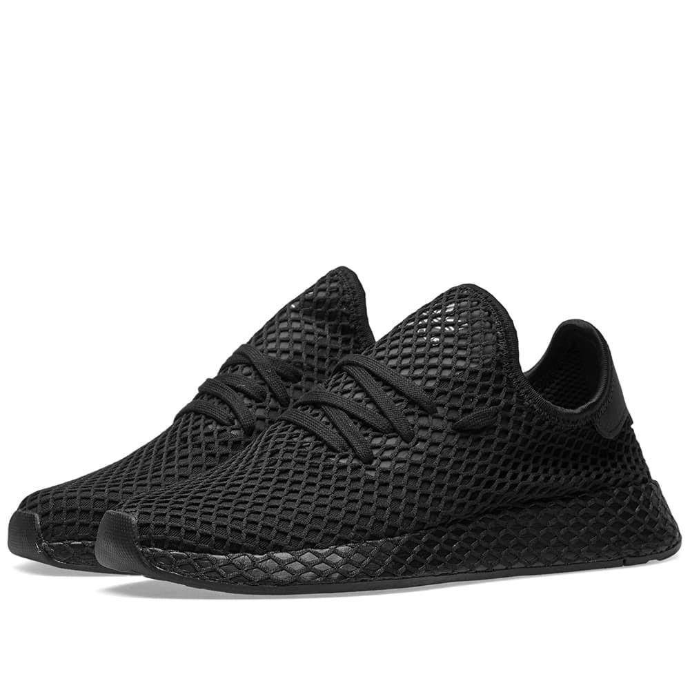 Deerupt Black Shoes Runner Originals White B41768 Casual Adidas Hombres gnCq5wwT