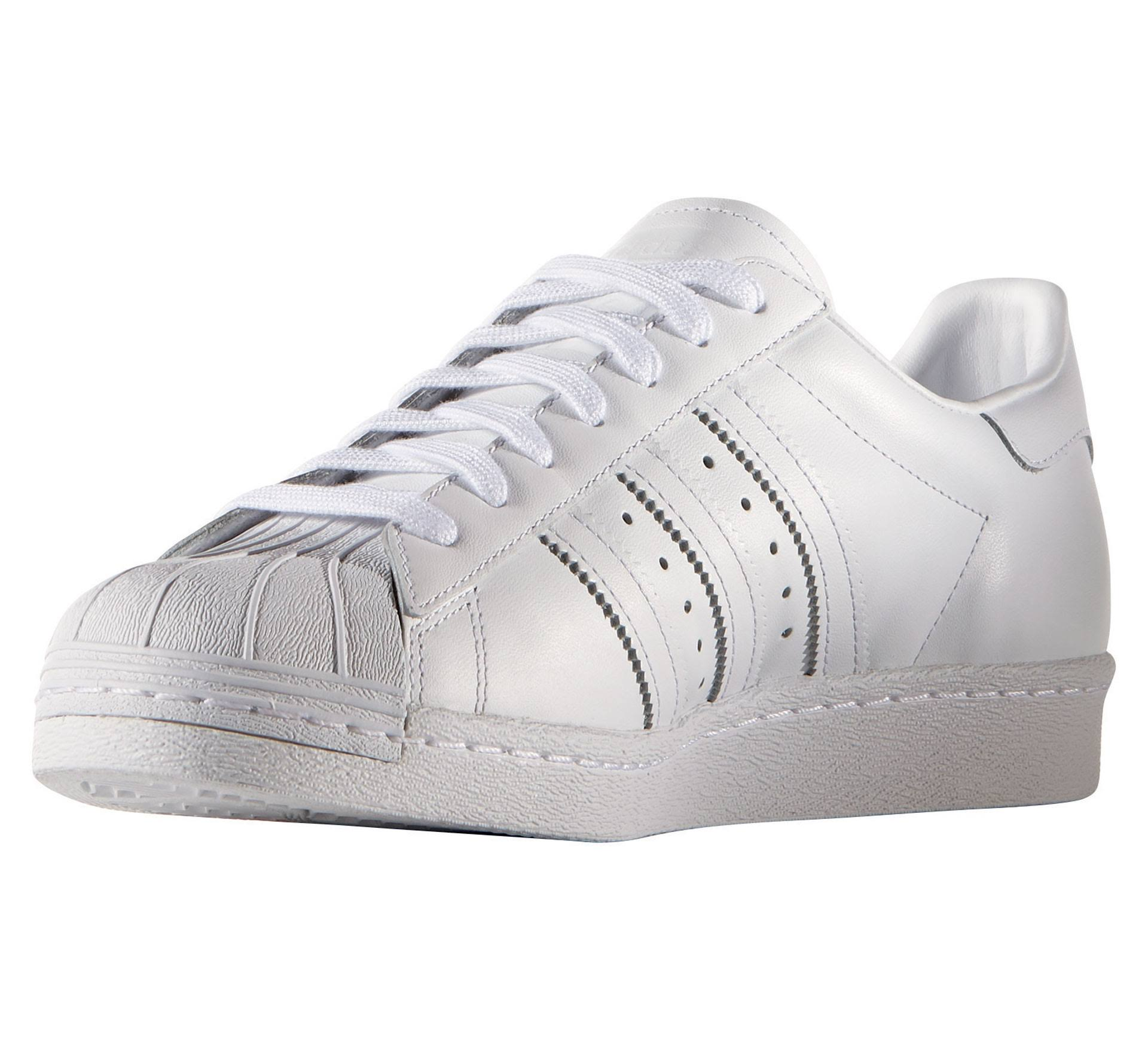 Black Schuh 36 Elfenbein core Adidas '80s footwear White Leder footwear White Superstar Black wHpqO