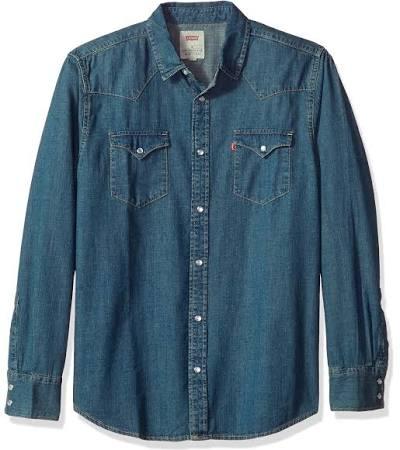 Lavaplatos up Barstow Levi's Hombre Snap Tinte Shirt Auténtico Western Para Con Auténtico Denim rzrdqI