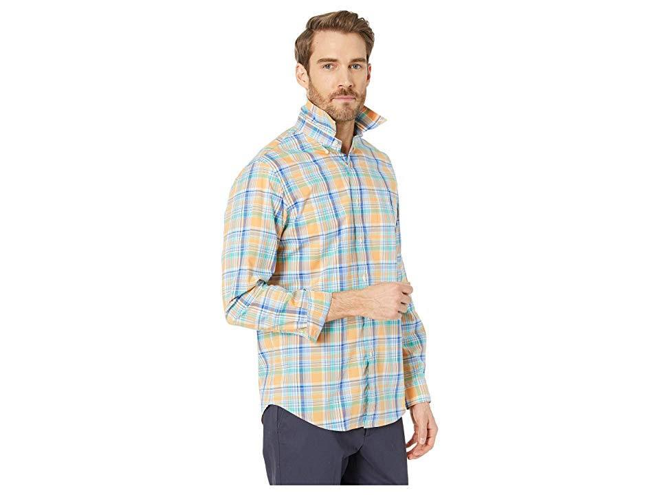 Corte De En Polo Camisa Cuadros Key Clásico Azul Ralph Lauren West Naranja A wUS8H