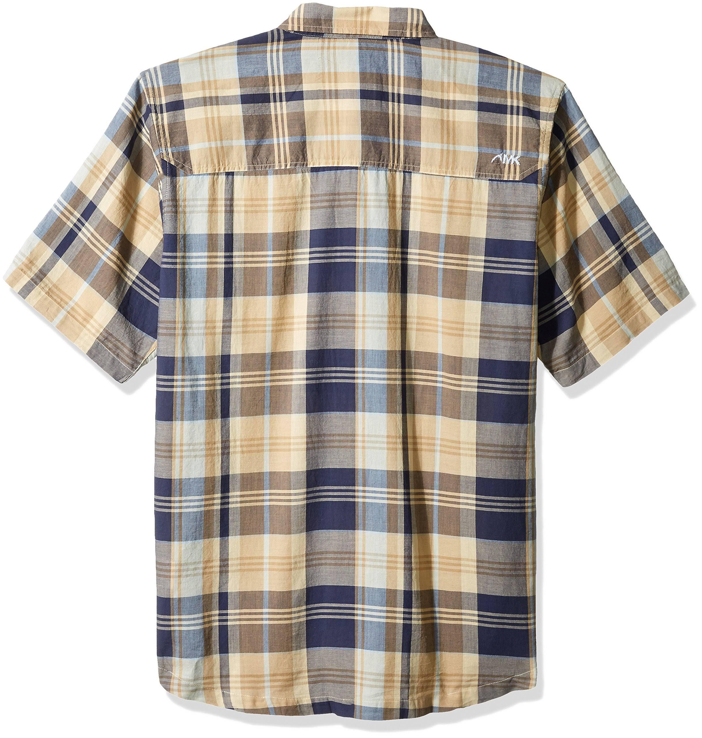 Medianoche De Pequeño Madras Khakis Tomahawk Para Mountain Hombre Camisa Azul UCRTxS