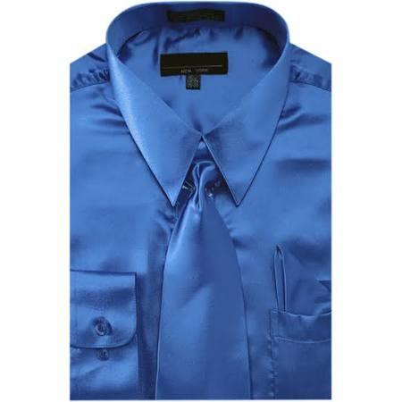 Hombre 35 5 Corbata De Liso Vestir Camisa Azul Outlet En Sunrise Tamaño Pañuelo Color Satén 21 Y Real 36 Para Z0qnaw1Bn