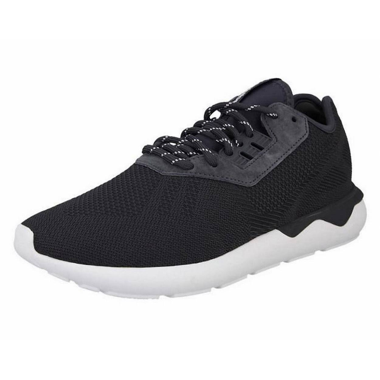 (9.5 UK) adidas Originals Men's Tubular Runner Weave Trainers Carbon