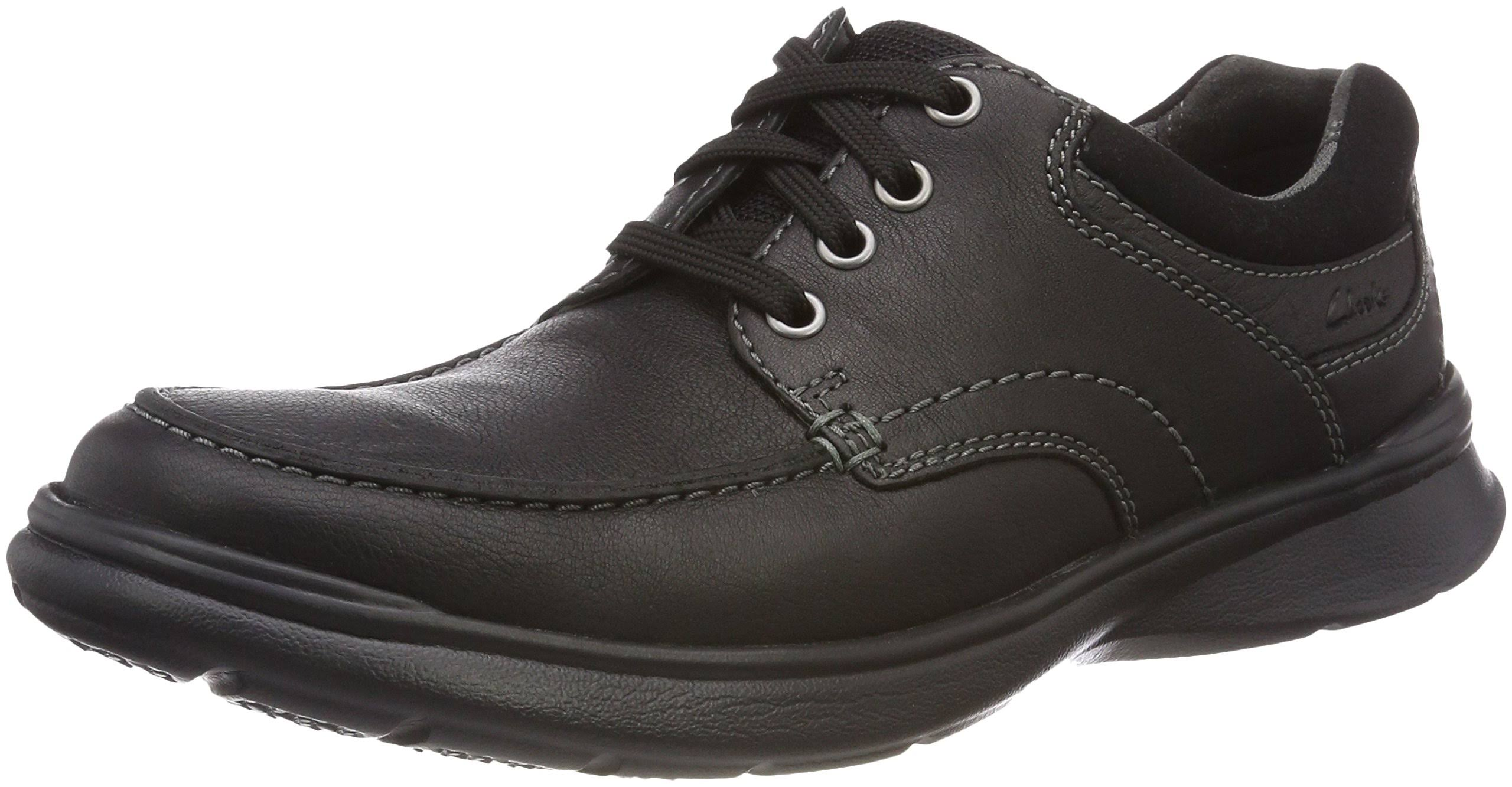 Glatt Schwarz EdgeBlack Leder Oily Cotrell Dimensioni10 Clarks Leather Uk 29HEDIW