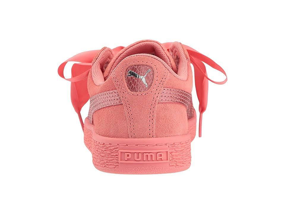 Snk Shell Suede Pink Puma Kids Heart Sneakers Sneaker wBnq4IPzx