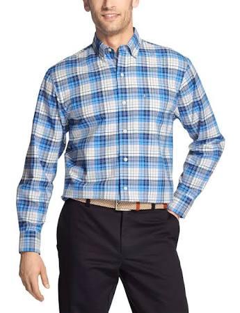 Rvivl Tartán Izod Light Para Mediana Azul Hombre De Revival Oxford Camisa Xl qO6Rf