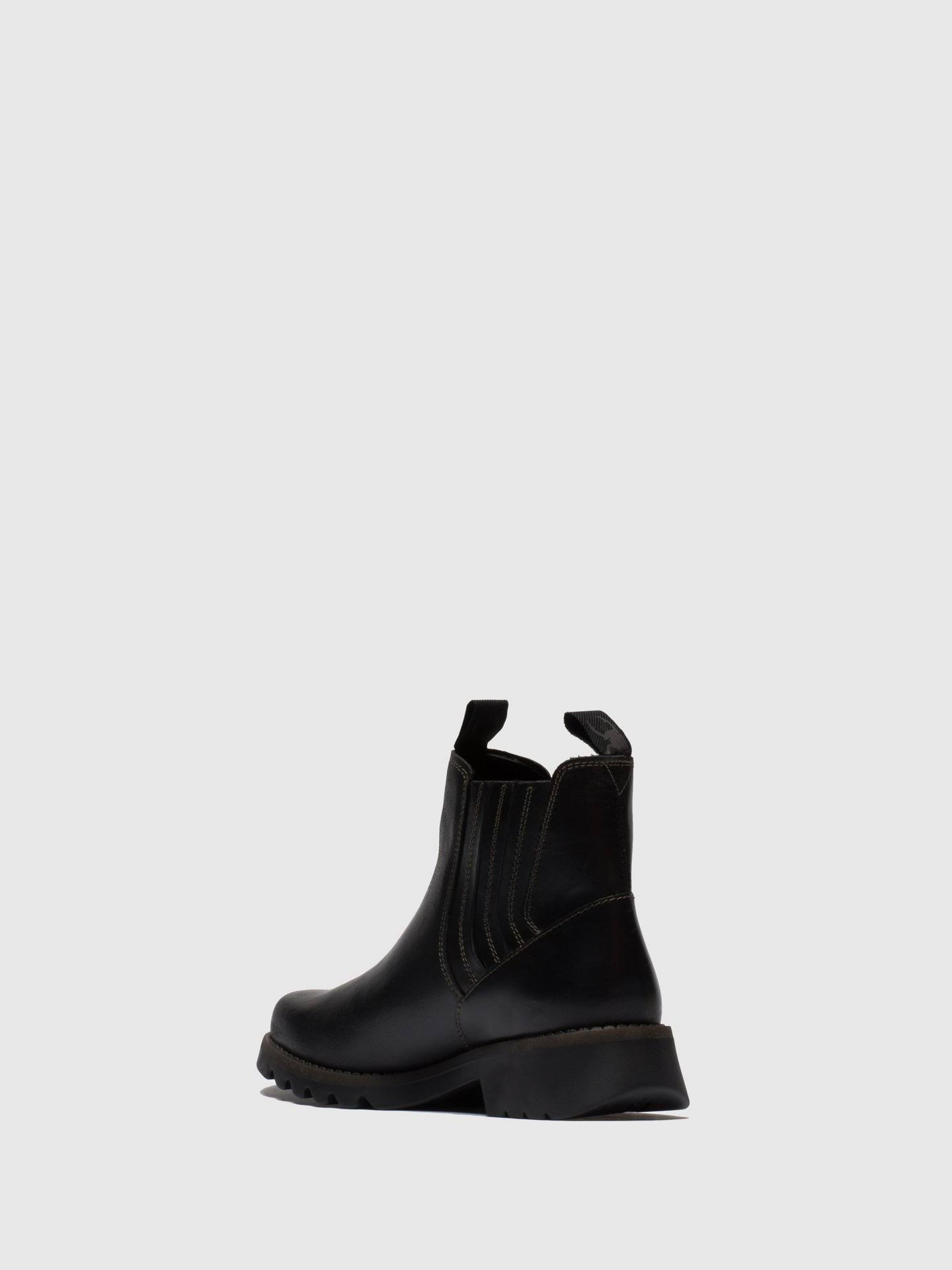 FLY LONDON Ralt Black Leather Chunky Chelsea Boots Colour: Black Leath  DlwtVx