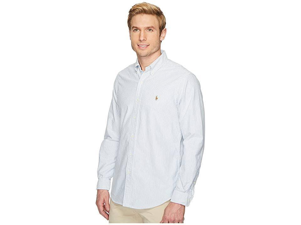 hemd Ralph Oxford Blau gestreiftes Polo Multi Weiß Lauren Xl qvHS1wp