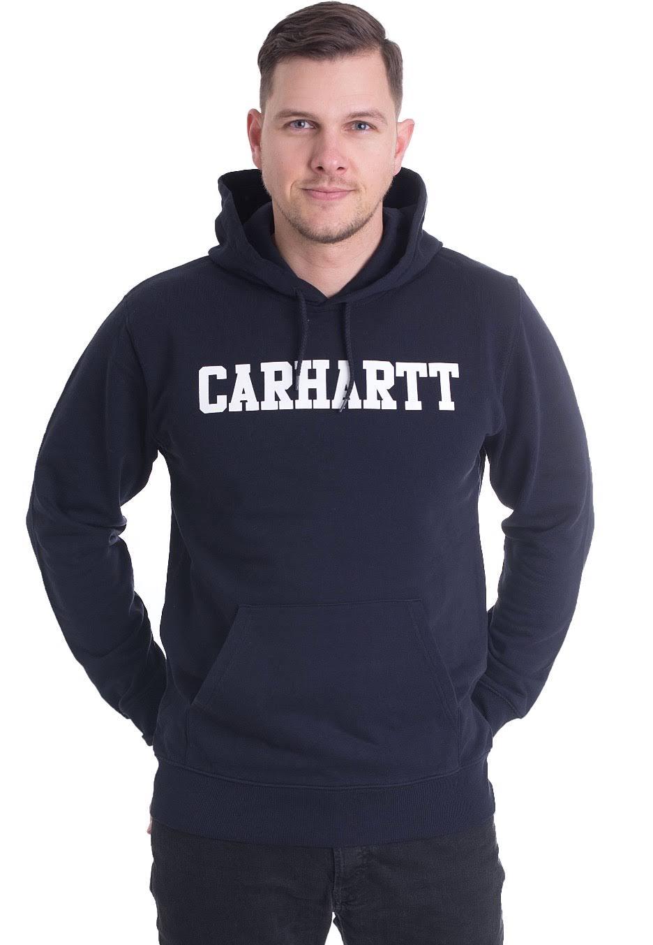 Blanco Sweat College Dark Carhartt Wip Navy Hooded 1Pq14wZ