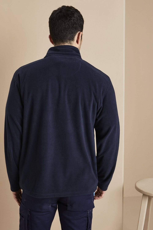 Neck Micro Zip Regatta Mens Fleece Polyester Dunkelblauer oberteil 84qtP