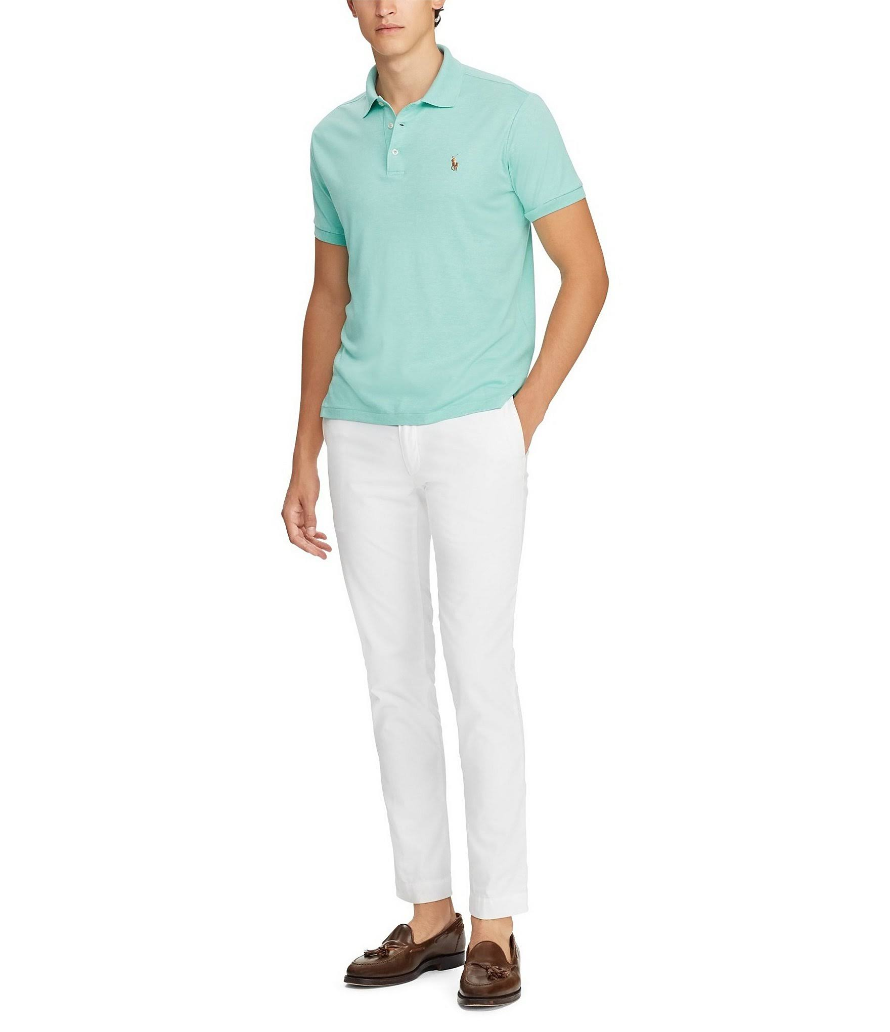 Caribbean Green Lauren Ralph Fit Xl Heather Touch Polo Classic Soft Hombres Para za85dq