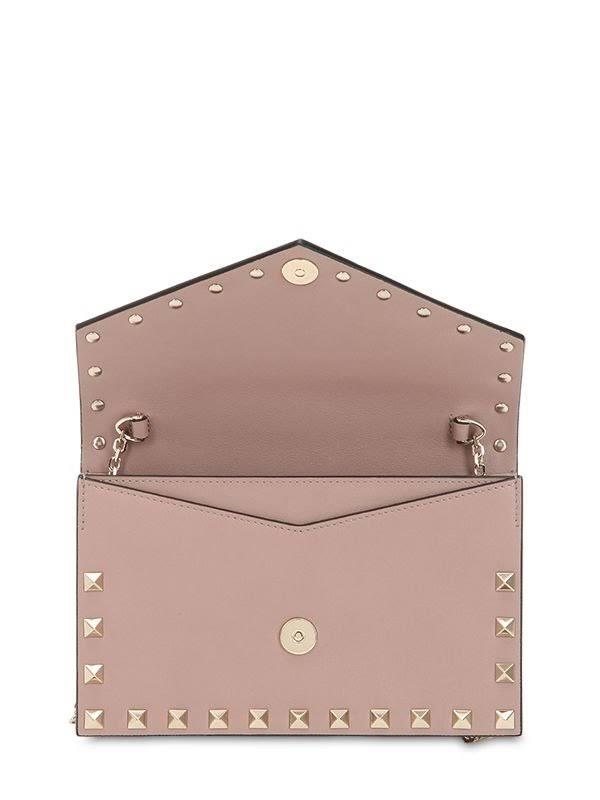 Clutch in pelle Valentino Rockstud rosa Tl35JFuK1c