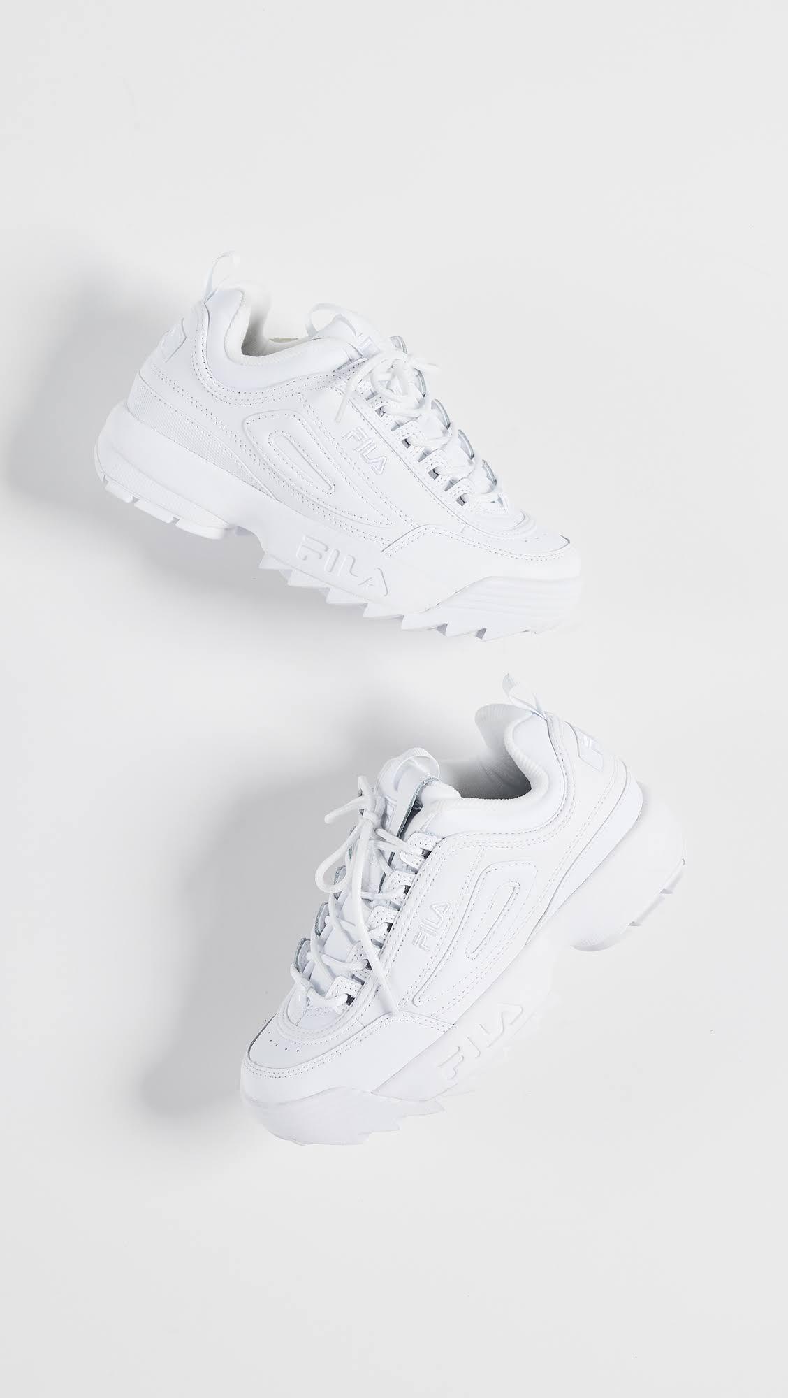 Fila Premium white White white Disruptor Sneakers Ii 5 88rqSawH