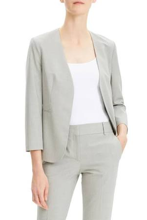 Female Wool Good 14 Light Clean Gray Melange Theory Blazer aSOqO