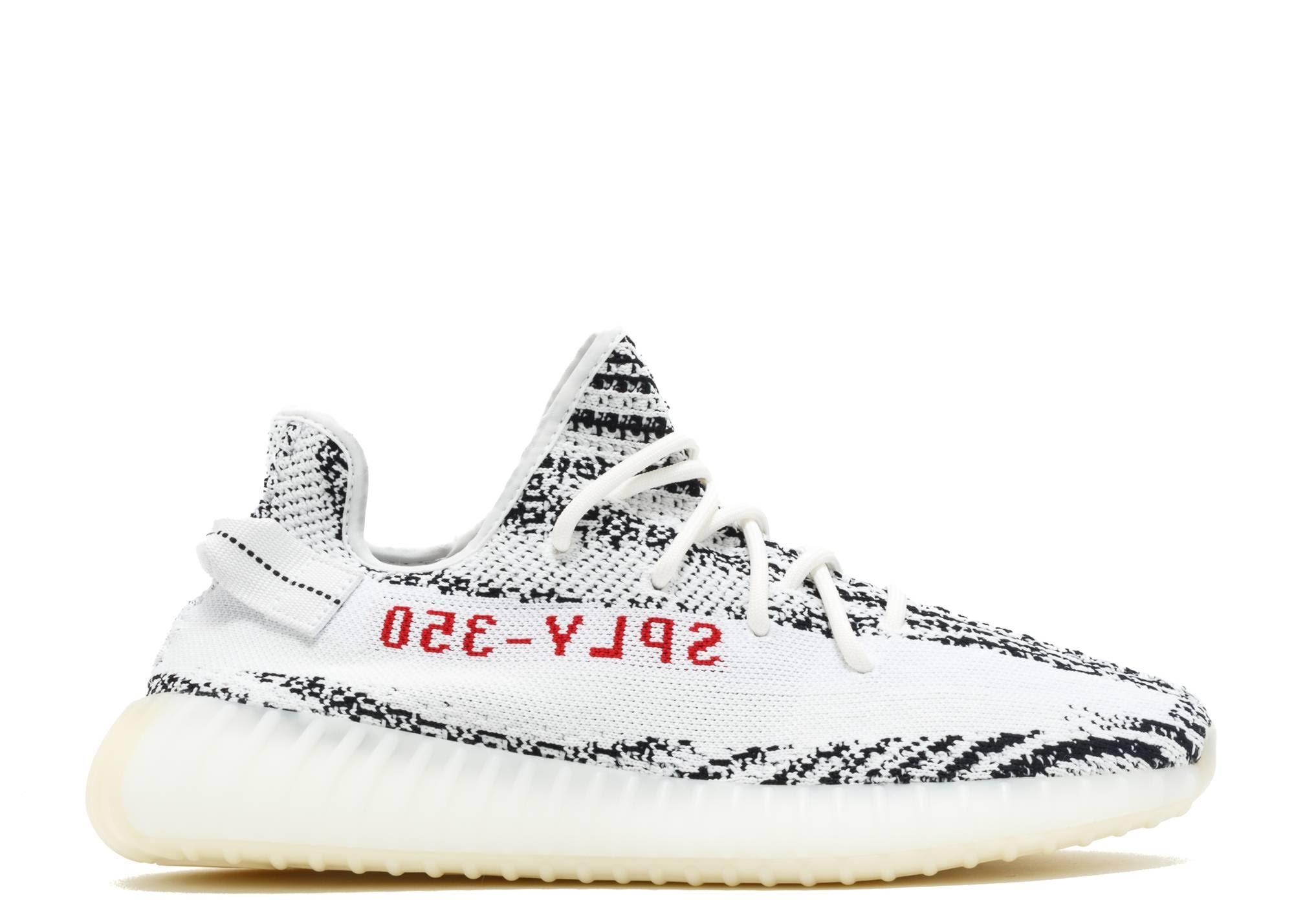 Boost Adidas Yeezy Rot Zebra 350 Kern Schwarz Weiß V2 wrwxqO