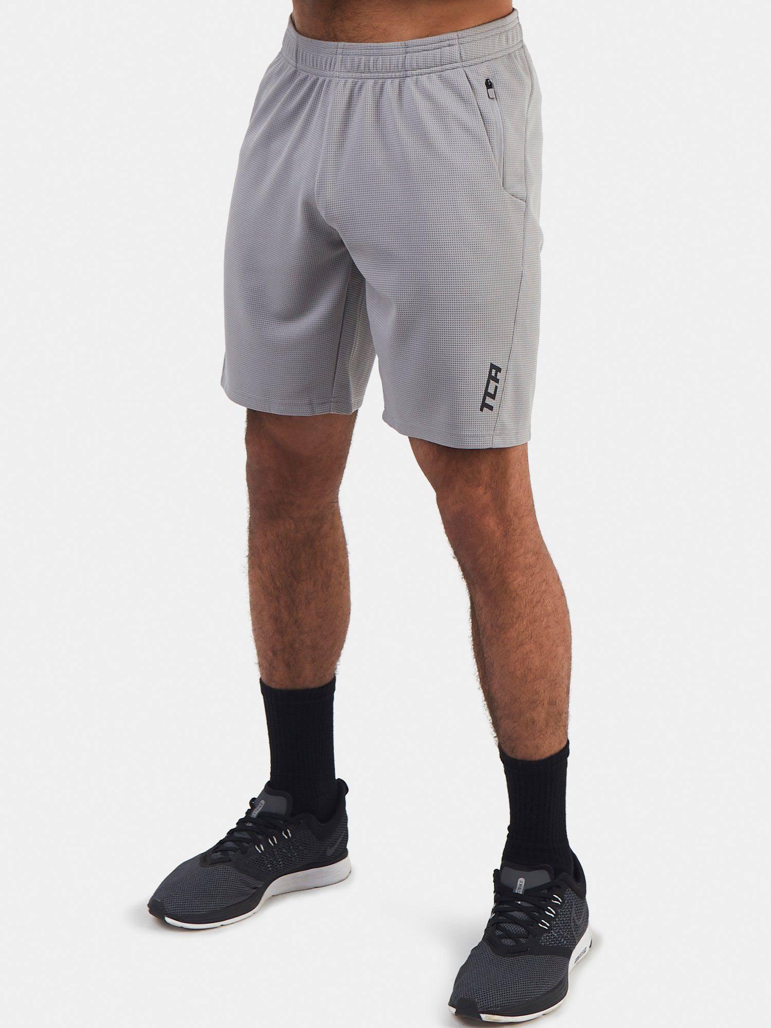 TCA Men's Aeron Gym Short with Zipped Pocket - Alloy Grey