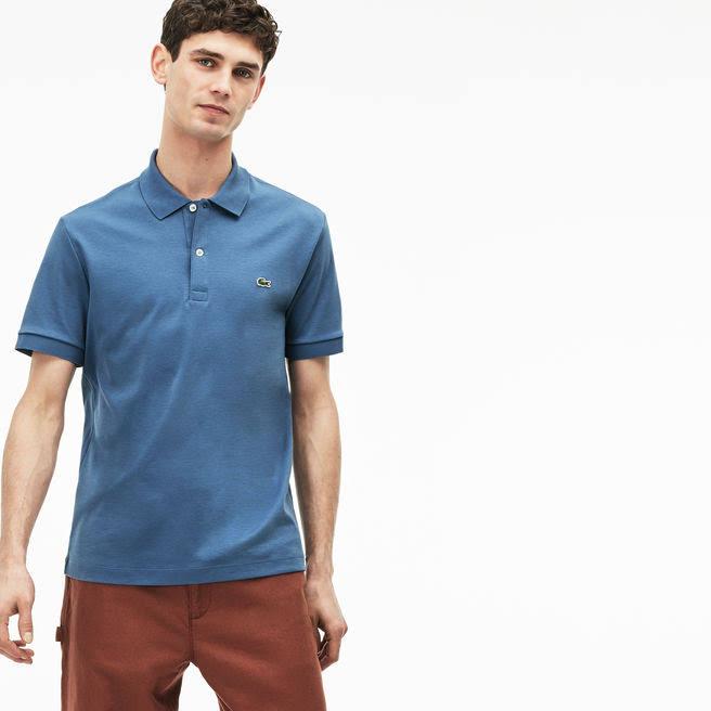 Cotton Lacoste Blau Soft Pima Touch Herren Polo S EEqzwO