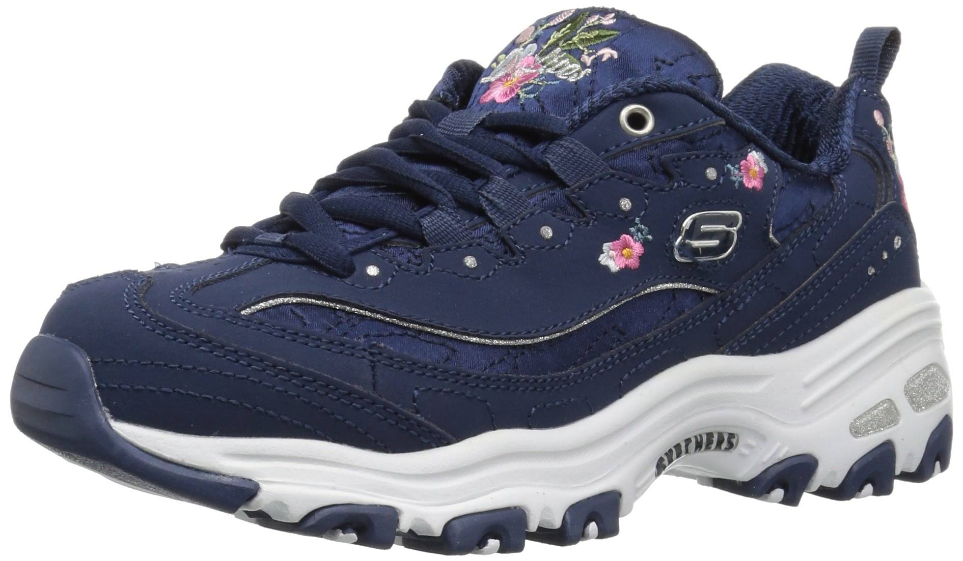 Para Skechers Blossoms D'lites Shoes Mujer Navy 0 Bright Athletic 5 wU5aPq5