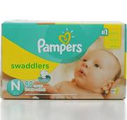 Pampers Swaddlers Newborn Diapers Super Pack - 88 Count