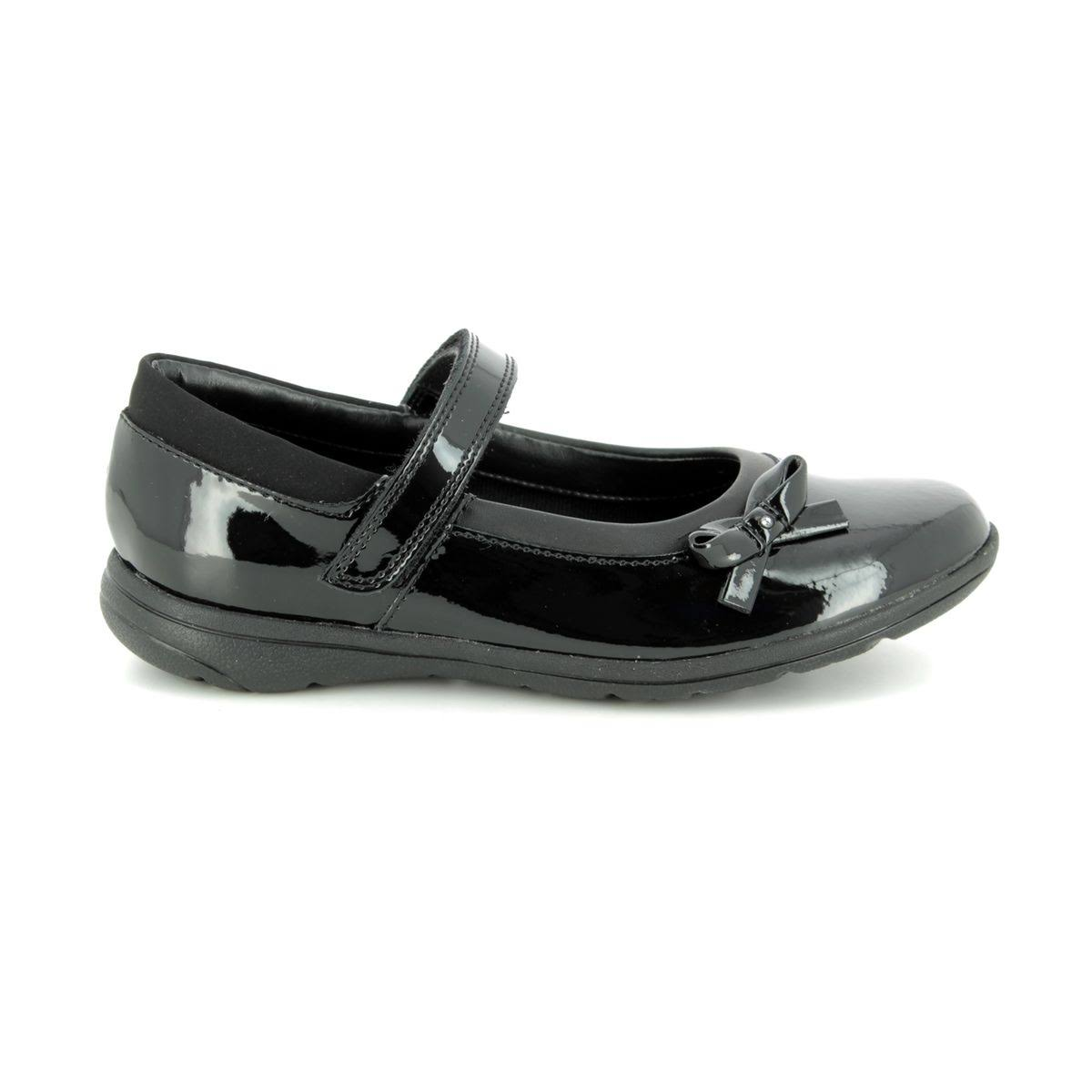 Jn Kids 58h Black Patent School Clarks Venture Star Shoes 3491 5RjLc4Aq3