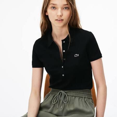 Slim Unicolor Black 34 baumwollpiqué Aus Polo Lacoste Fit stretch Mini dTn0w1xRCq