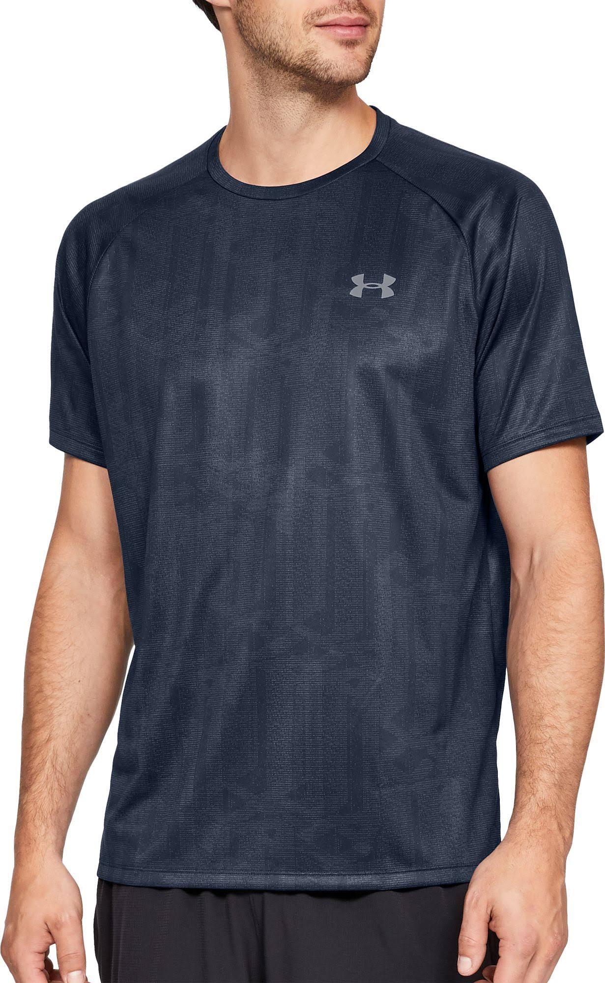 T Herren Größe Bedrucktes Tech Stahl shirt Academy Under Xxl Matrix Armour Kurzarm BYHqHO