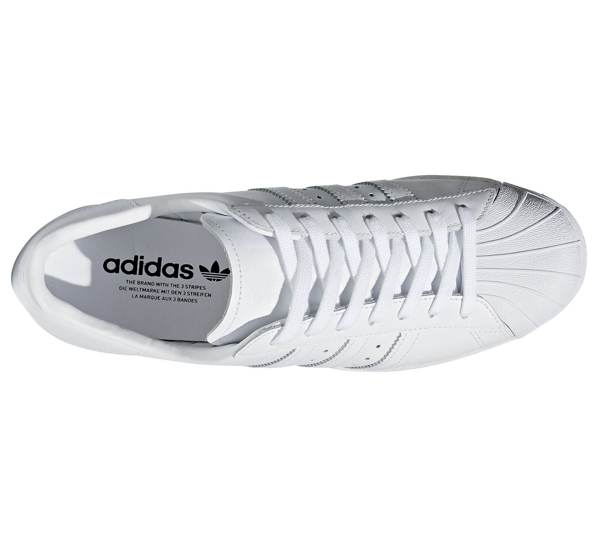 Adidas footwear Leder White core Black White '80s Schuh footwear Black 36 Elfenbein Superstar rxzB4qAr